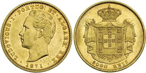 5000 Reis Kingdom of Portugal (1139-1910) Gold Luís I of Portugal (1838 - 1889)
