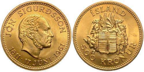 500 Крона Исландия Золото