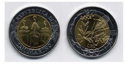 500 Лира Сан-Марино Биметалл