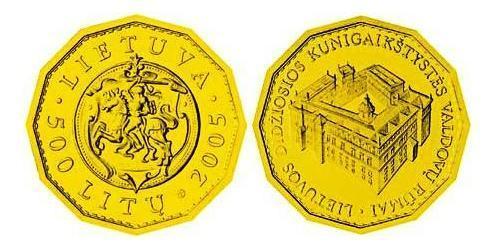 500 Лит Литва (1991 - ) Золото