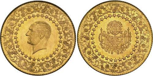 500 Пиастр Турция (1923 - ) Золото Mustafa Kemal Atatürk (1881-1938)