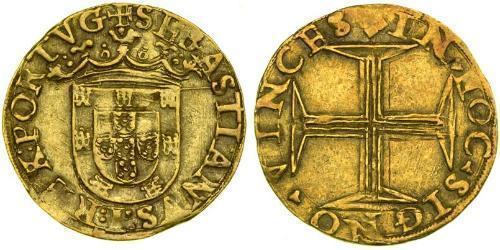 500 Рейс Португалия / Королевство Португалия (1139-1910) Золото Sebastian of Portugal (1554-1578)