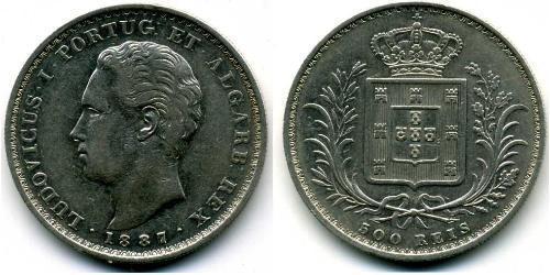 500 Рейс Королевство Португалия (1139-1910) Серебро