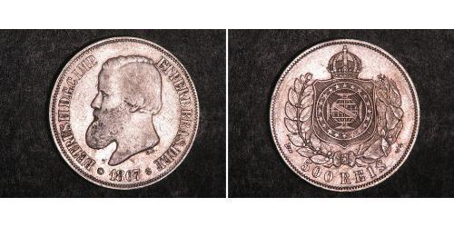 500 Рейс Бразильська імперія (1822-1889) Срібло Педру II (імператор Бразилії) (1825 - 1891)