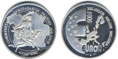 500 Франк Бельгия Серебро