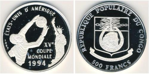 500 Франк Демократическая Республика Конго Серебро