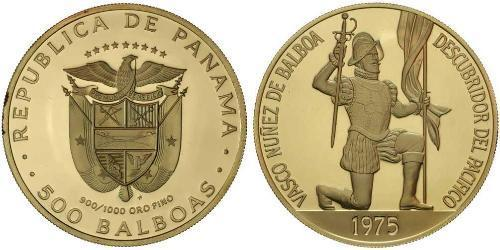 500 Balboa Republic of Panama Gold Vasco Núñez de Balboa (1475 – 1519)