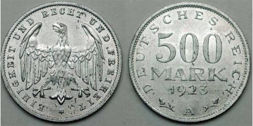 500 Mark República de Weimar (1918-1933) Aluminio