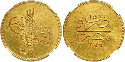 500 Piastre Khedivate of Egypt (1867 - 1914) Gold Abdülaziz of the Ottoman Empire (1830 - 1876)