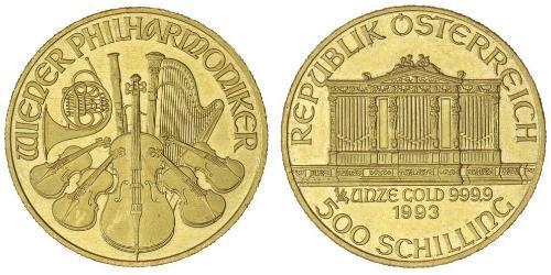 500 Shilling Republic of Austria (1955 - ) Gold