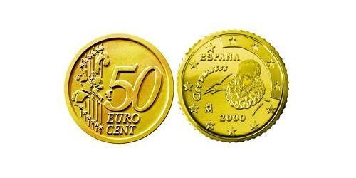 50 Евроцент Королевство Испания (1976 - ) Алюминий/Цинк/Олово/Медь