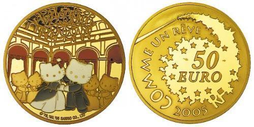 50 Евро Пятая французская республика (1958 - ) Золото