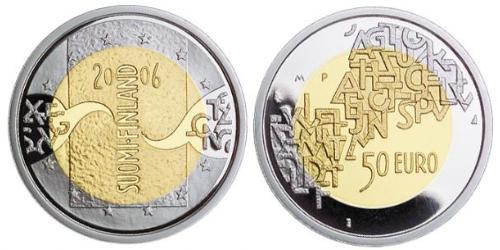 50 Евро Финляндия (1917 - ) Золото/Серебро