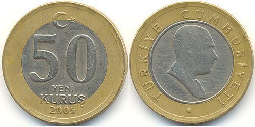 50 Куруш Турция (1923 - ) Биметалл