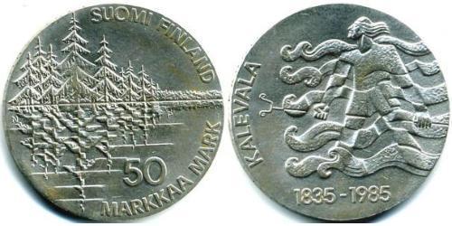50 Марка Финляндия (1917 - ) Серебро