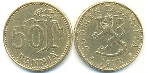 50 Пенни Финляндия (1917 - ) Алюминий/Бронза