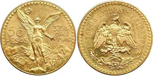 50 Песо Соединённые Штаты Мексики (1867 - ) Золото