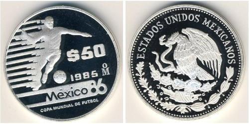 50 Песо Соединённые Штаты Мексики (1867 - ) Серебро