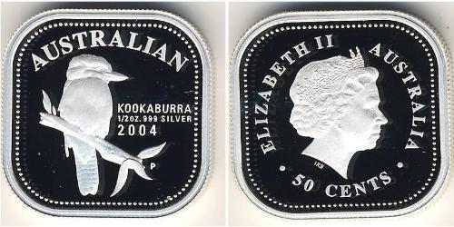50 Цент Австралия (1939 - ) Серебро