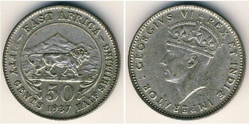 50 Цент Восточная Африка Серебро