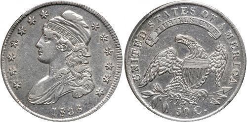 50 Цент США (1776 - ) Серебро