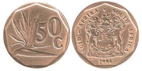 50 Цент Южно-Африканская Республика Латунь/Сталь