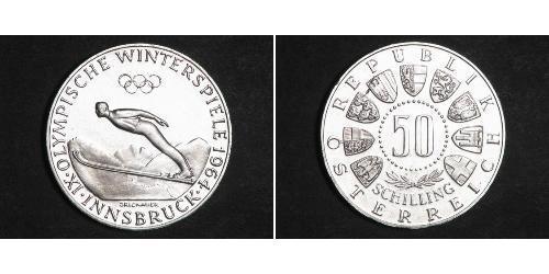 50 Шиллинг Австрийская Республика(1955 - ) / Австрия Серебро