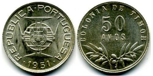 50 Avo Timor Oriental (1702 - 1975) / Portugal Plata