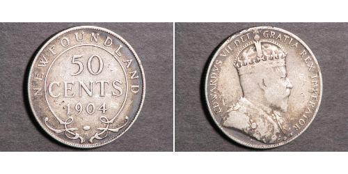 50 Cent 紐芬蘭與拉布拉多 銀 爱德华七世 (1841-1910)