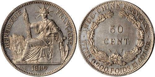 50 Cent French Indochina (1887-1954) 青铜/镍