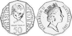 50 Cent Australia (1939 - ) Copper-Nickel Elizabeth II (1926-)