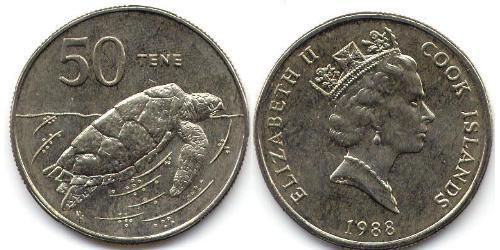 50 Cent Cook Islands Copper/Nickel