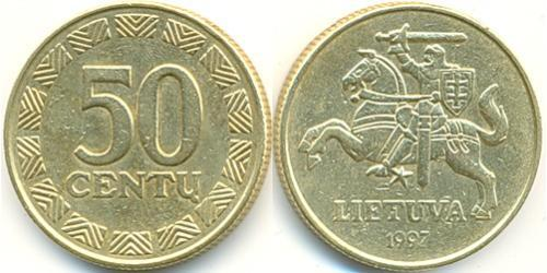 50 Cent Lituanie (1991 - ) Laiton