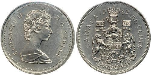 50 Cent Canada Silver Elizabeth II (1926-)