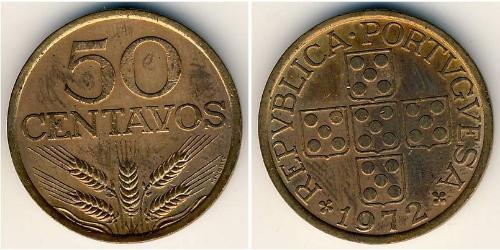 50 Centavo Second Portuguese Republic (1933 - 1974) Bronze