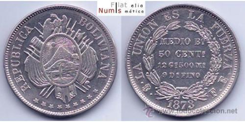 50 Centavo Bolivien Silber