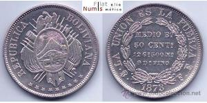 50 Centavo Plurinational State of Bolivia (1825 - ) Silver