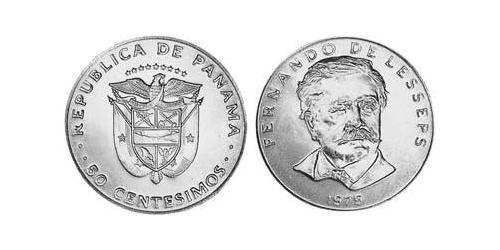 50 Centesimo Republic of Panama Copper/Nickel Ferdinand de Lesseps (1805 – 1894)
