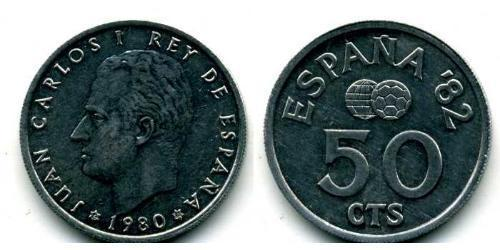 50 Centimo Kingdom of Spain (1976 - ) Aluminium Juan Carlos I of Spain (1938 - )