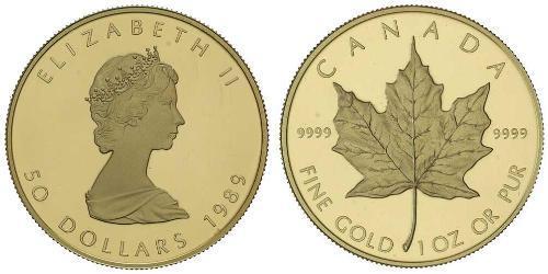 50 Dollar 加拿大 金 伊丽莎白二世 (1926-)