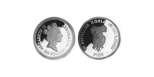 50 Dollar Australia (1939 - ) Platinum Elizabeth II (1926-)