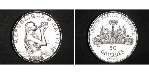 50 Gourde Haití Plata