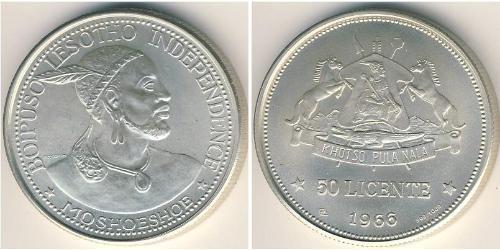 50 Lisente Lesotho Argento