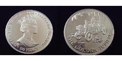 50 Penny United Kingdom (1922-) Copper-Nickel Elizabeth II (1926-)