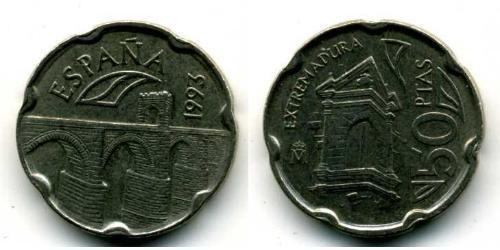 50 Peseta Kingdom of Spain (1976 - ) Copper/Nickel