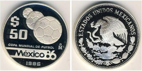 50 Peso United Mexican States (1867 - ) Silver