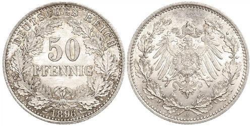 50 Pfennig Imperio alemán (1871-1918)