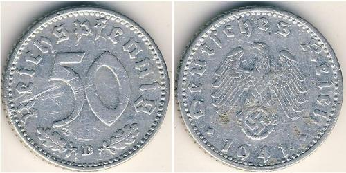 50 Reichpfennig Troisième Reich (1933-1945) Aluminium