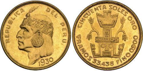 50 Sol Pérou Or