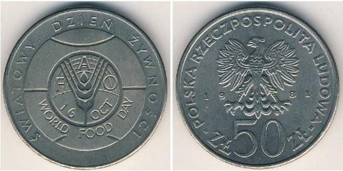 50 Zloty República Popular de Polonia (1952-1990) Níquel/Cobre